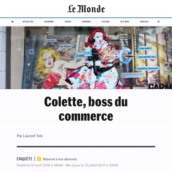 Colette, boss du commerce