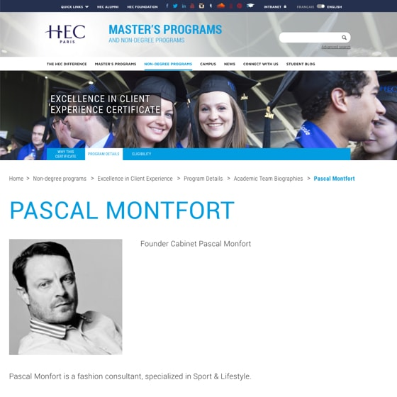 Academic Team Biographies: Pascal Monfort