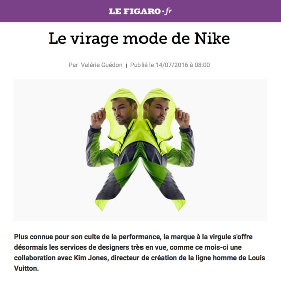 Le virage mode de Nike
