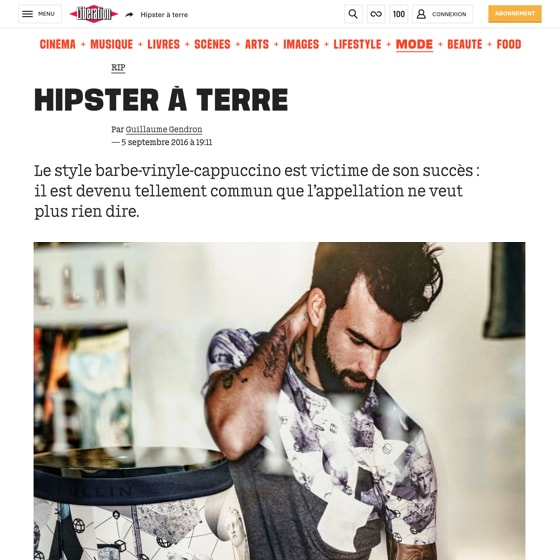 Hipster à terre