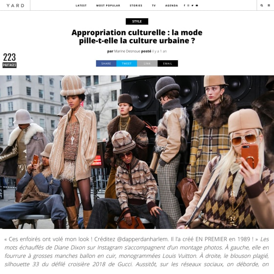 Appropriation culturelle : la mode pille-t-elle la culture urbaine ?