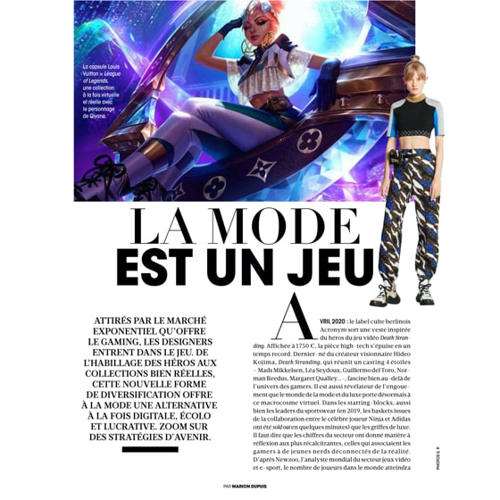 Le gaming, nouvel eldorado de la mode